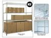 STATIONARY CHROME WIRE SHELVING