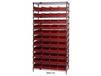 CHROME WIRE SHELVING UNITS WITH SHELF BINS